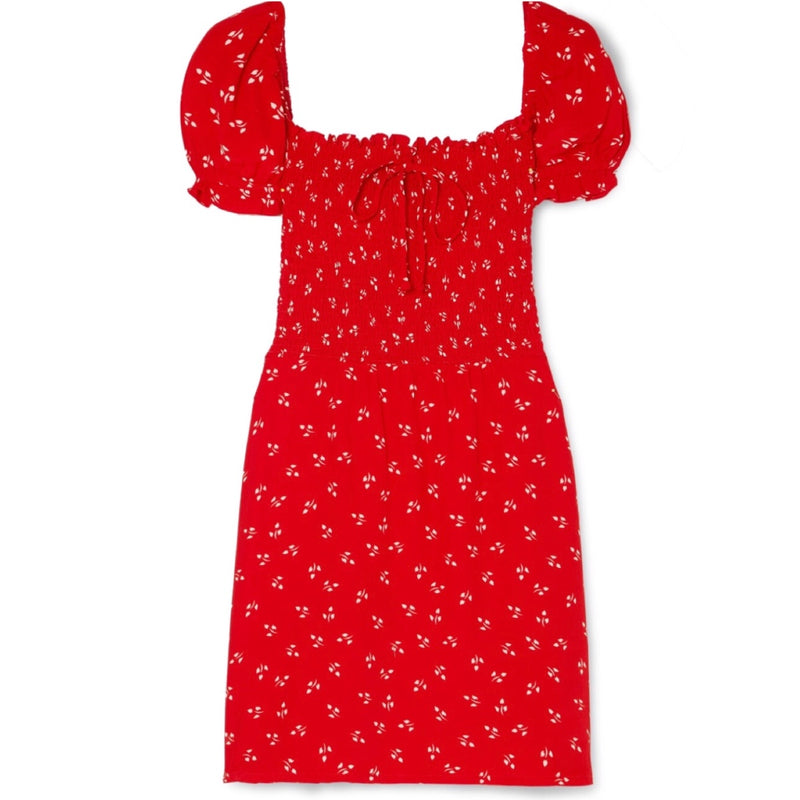 Faithfull Genevieve Shirred Dress