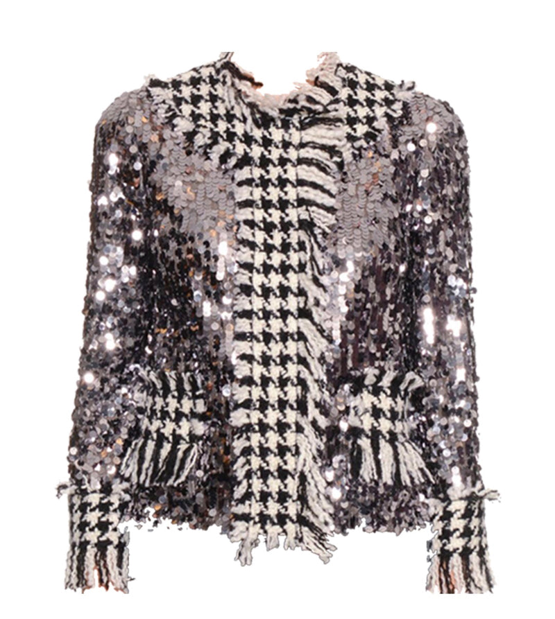 Dolce & Gabbana Paillette Sequin Tweed Jacket