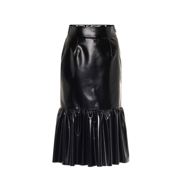 Miu Miu Faux Leather Midi Skirt