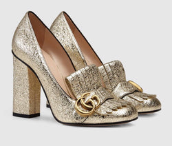 Gucci Metallic Leather Pumps