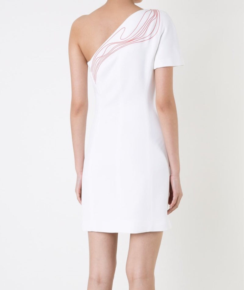 Mugler Embroidered Detail Dress