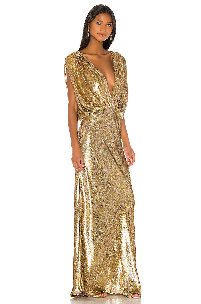 Mes Demoiselles Helen Metallic Velvet Dress