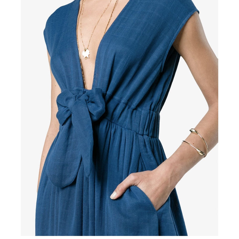 Mara Hoffman Katinka V Neck Wrap Dress Organic Cotton