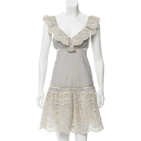 Zimmermann Eyelet Trim Mini Dress