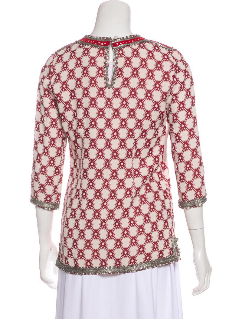 Isabel Marant Embellished Brocade Tunic