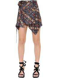 Isabel Marant Silk Wrap Skirt