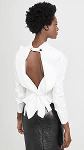 A.W.A.K.E. Mode Ruched Open Back Top
