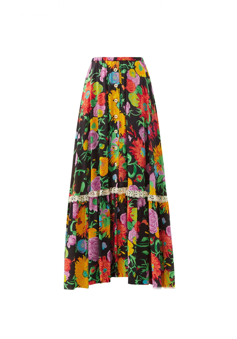 Gucci x Ken Scott Floral Skirt