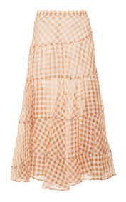 Isa Arfen Asymmetrical Gingham Skirt