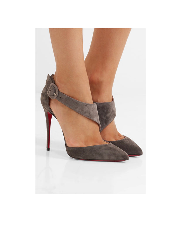 Christian Louboutin Sharpeta 100 Suede Pumps