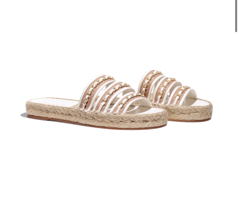 Chanel Espadrille Slides