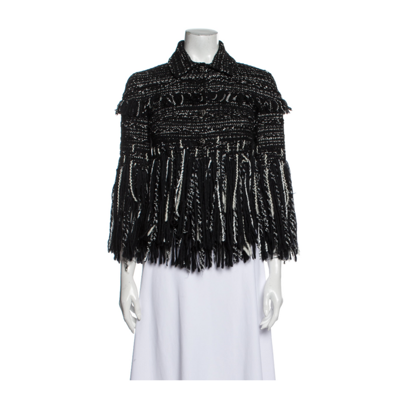 Chanel Fringe Tweed Jacket