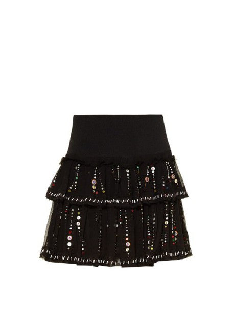 Isabel Marant Flore Galaxy Embroidered Skirt