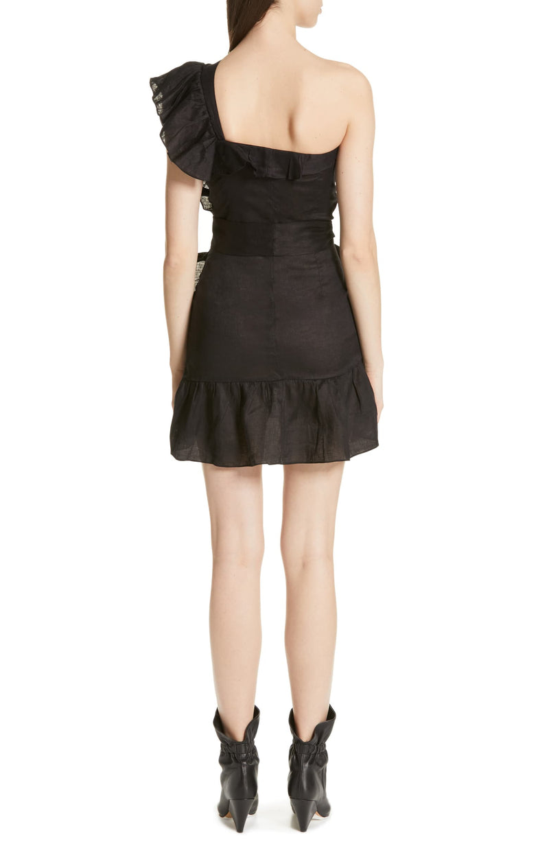Isabel Marant Etoile Teller Ruffle One Shoulder Dress