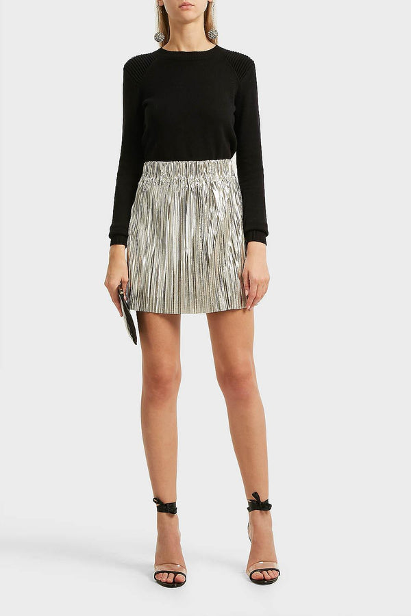 Isabel Marant Etoile Delpha Metallic Mini Skirt