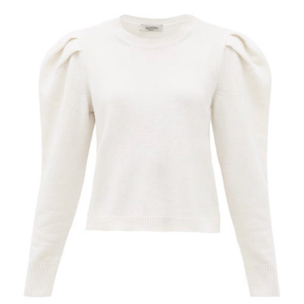 Valentino Puff Sleeve Sweater