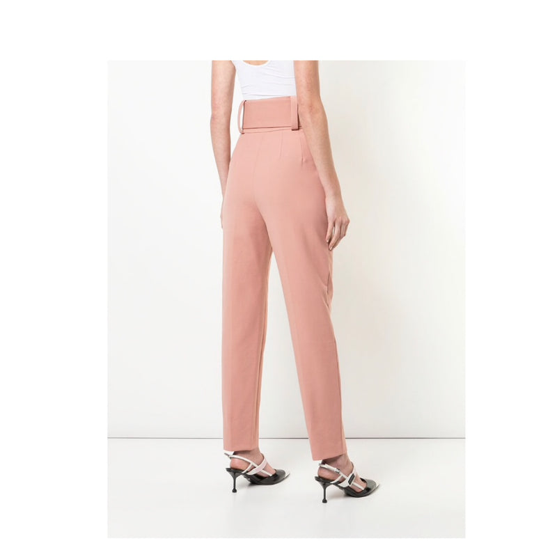 Sara Battaglia Belted High Waist Pants