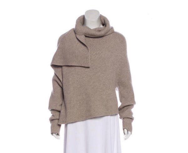 Celine Wool Blend Asymmetrical Sweater