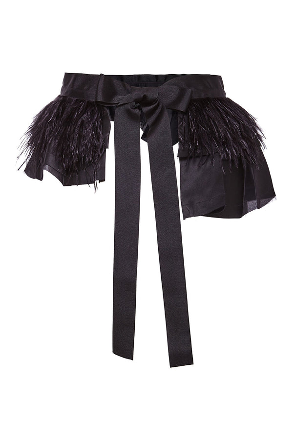 Johanna Ortiz Fleur D'ete Feather Silk Belt