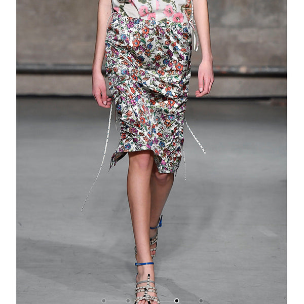 Marni Ruched Floral Midi