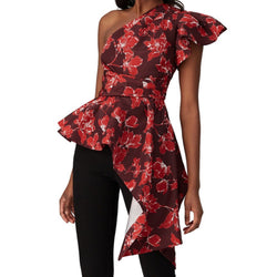 Amur Burgundy Floral Liberty Top