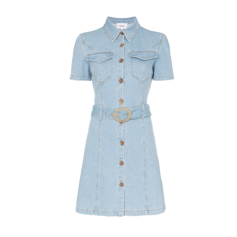 Nanushka Mora Denim Mini Dress