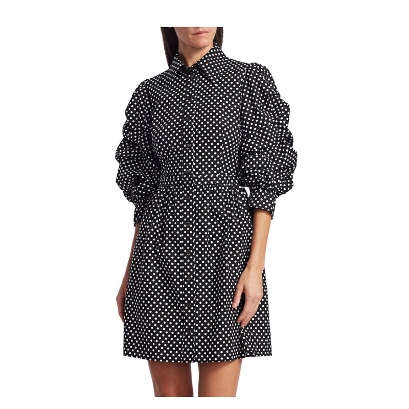 Michael Kors Collection Ruched Sleeve Shirt Dress