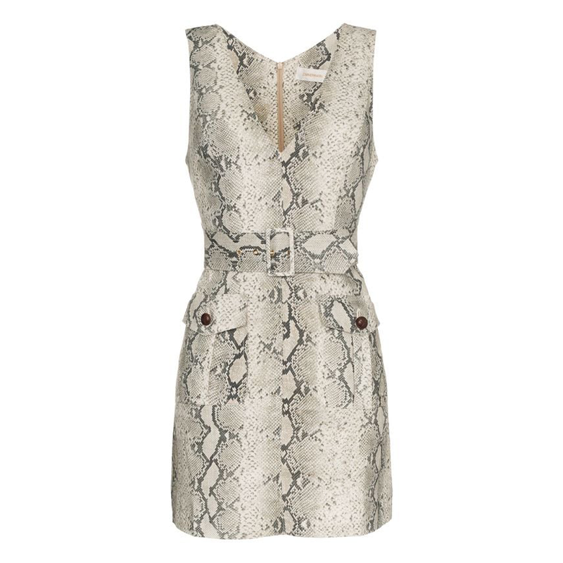 Zimmermann Corsage Python Safari Dress