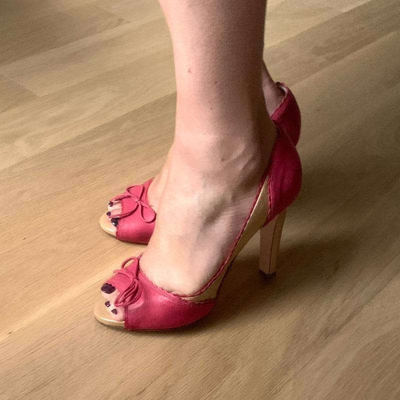 Red Valentino Peep Toe Shoes
