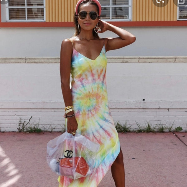 Dannijo Tie Dye Slip Dress