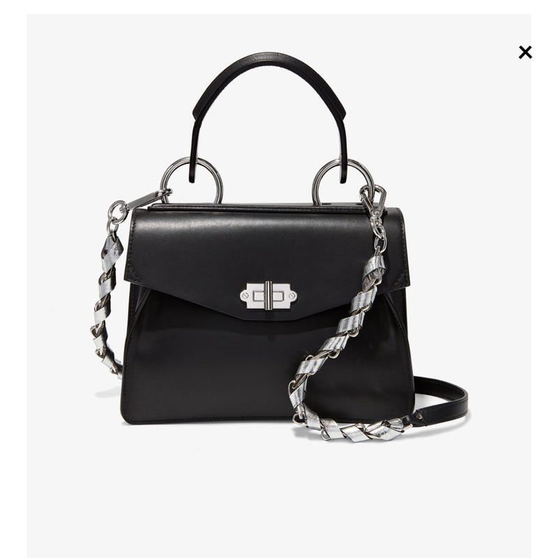 Proenza Schouler Silver Black And Metal Purse Strap