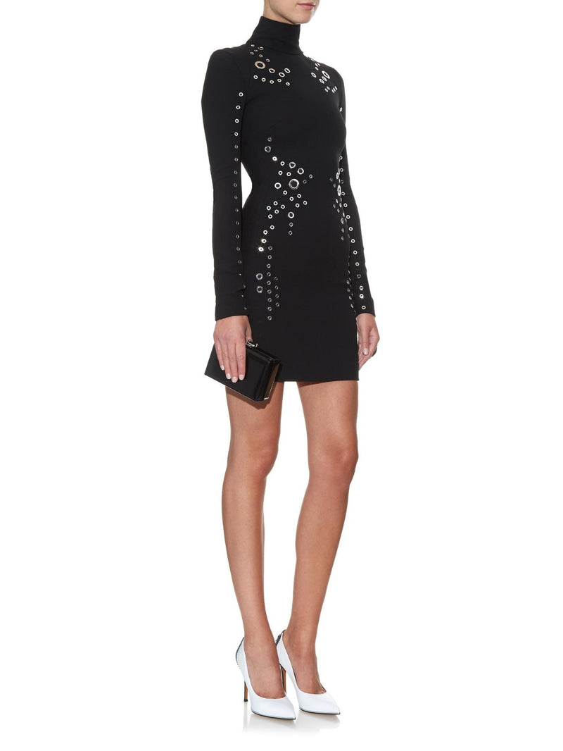 Mugler Grommet Long-sleeved MiniDress
