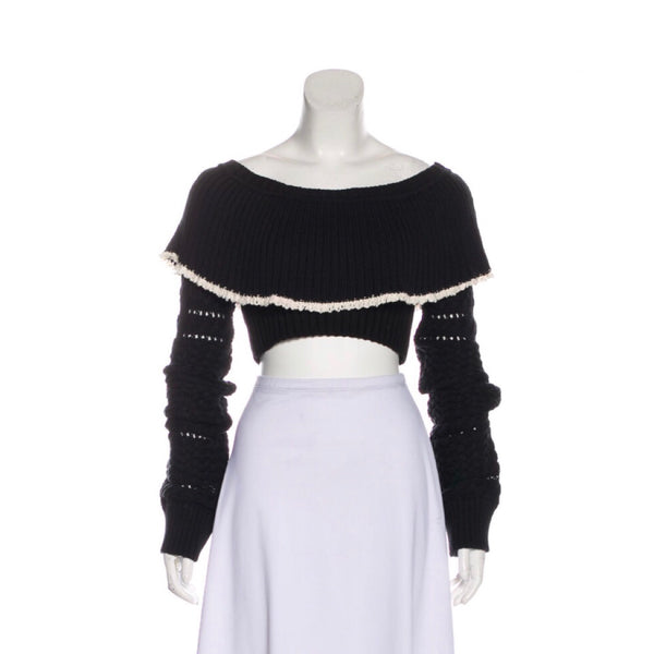 Philosophy di Lorenzo Serafini Knit Cropped Sweater
