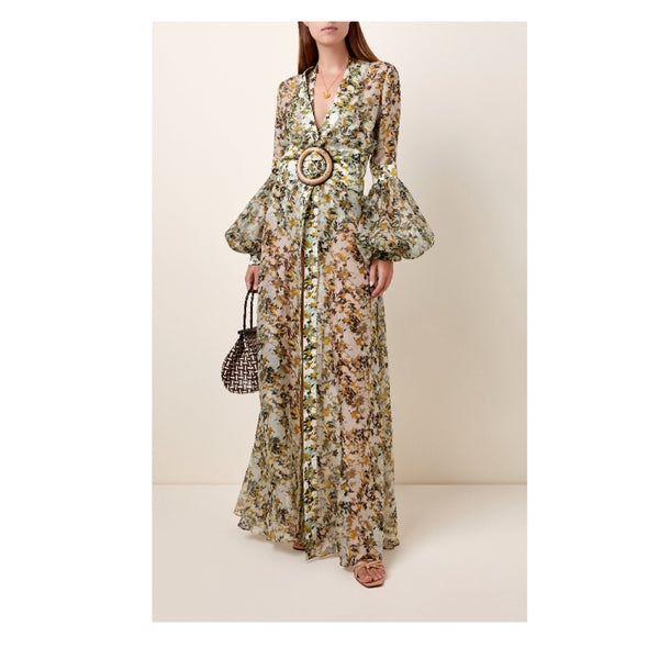 Silvia Tcherassi Farolillo Silk-chiffon Maxi Dress