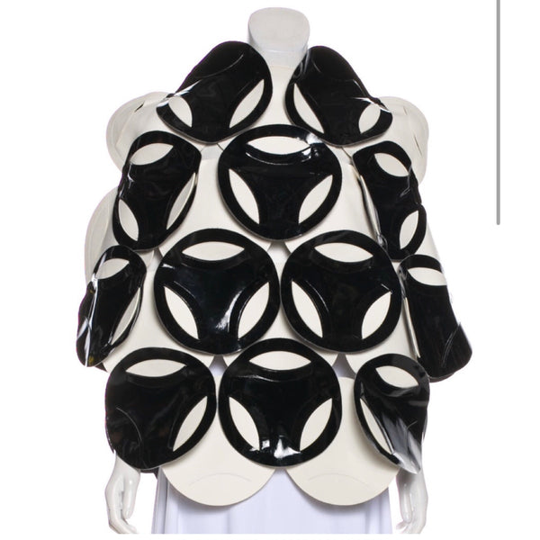 Junya Watanabe Geometric Faux Leather Top