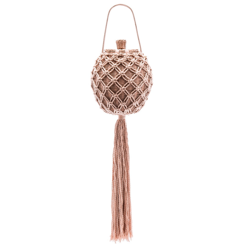 Ulla Johnson Leia Woven Bag With Tassel
