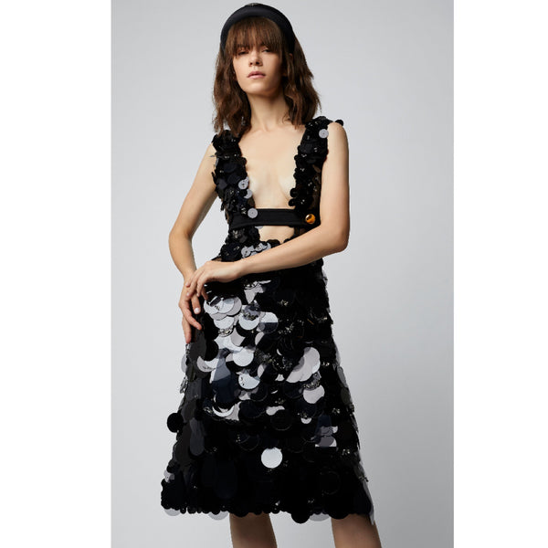 Prada Cutout Sequin Silk Dress
