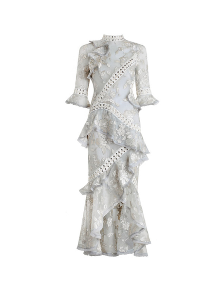 Zimmermann Embroidered Organza Dress