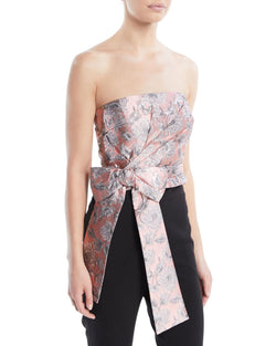 Prada Pink and Metallic Strapless Bustier