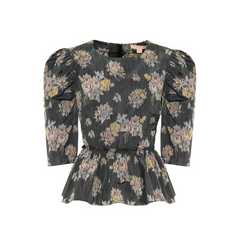 Brock Collection Floral Peplum Blouse