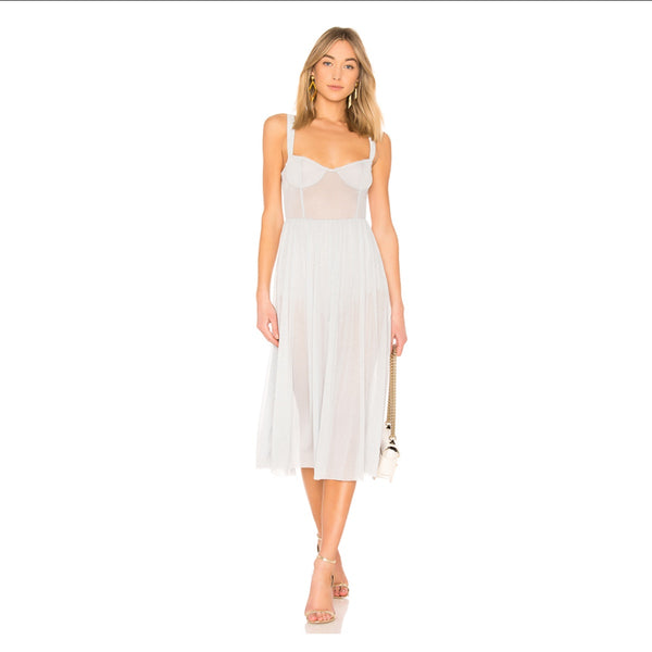 Majorelle Rina Dress In Plated
