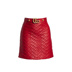 Gucci Quilted Leather Mini Skirt