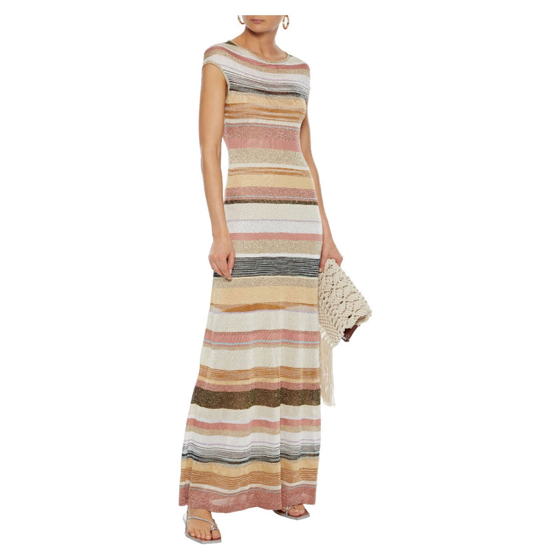 Missoni Metallic Striped Knit Dress
