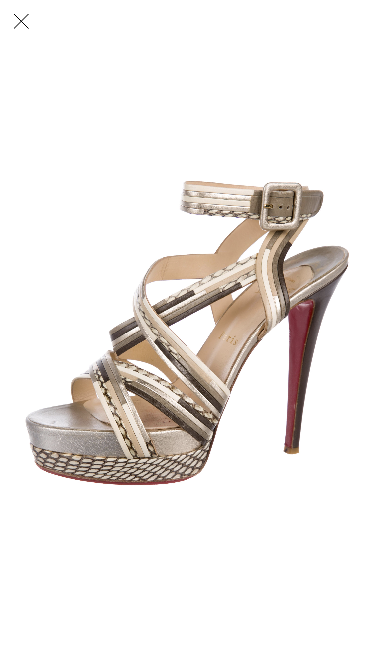 Christian Louboutin Gold Platform Sandals