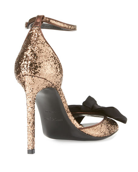 Saint Laurent Jane Glitter Bow Sandal