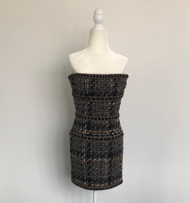 Chanel Sleeveless Tweed Mini