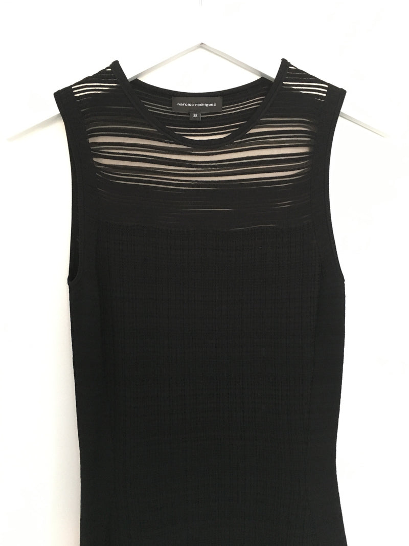 Narciso Rodriguez Semi Sheer Knit Dress