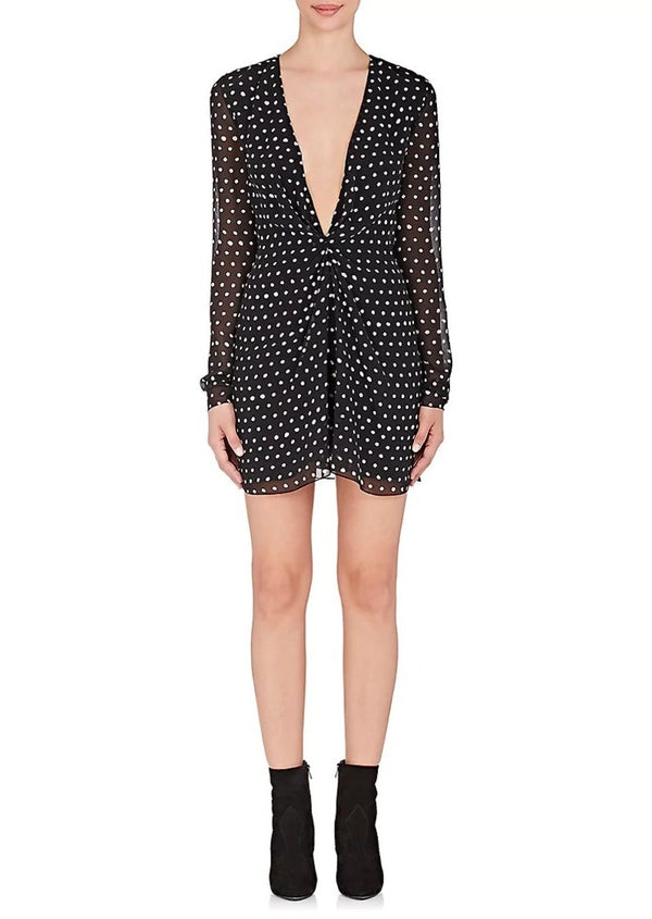 Saint Laurent Polka Dot Silk Minidress