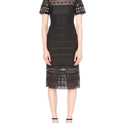 Sandro Black Radiance Fitted Dress