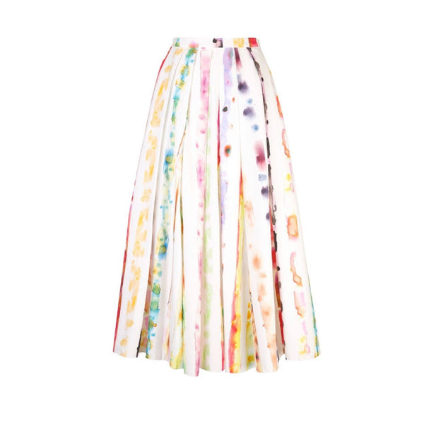 Rosie Assoulin Watercolor Print Skirt